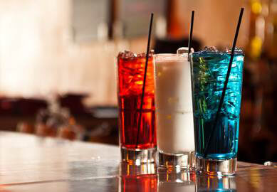UV Red, White and Blue Cocktails