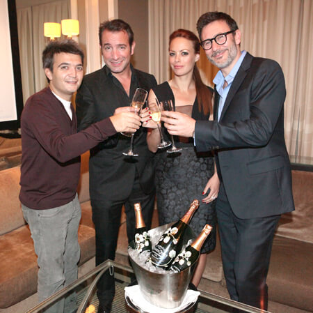 """The Artist"" Filmaker and Cast Toast their Success With Perrier-Jouet Belle Epoque"