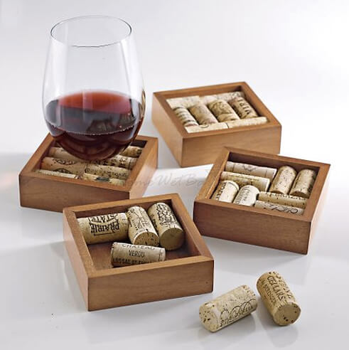 Wine cork drink coasters chilled magazine for Cool things to do with wine corks