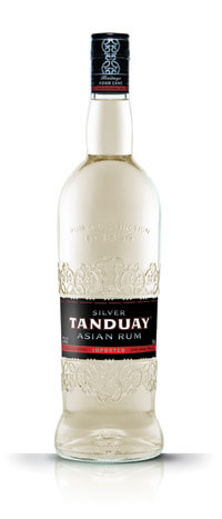 tanduay silver asian rum bottle