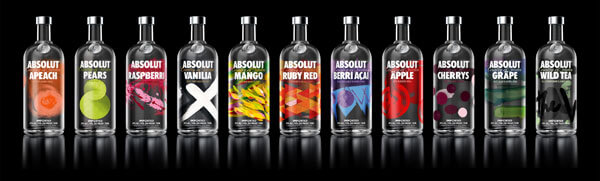 new line of absolut bottles and varieties