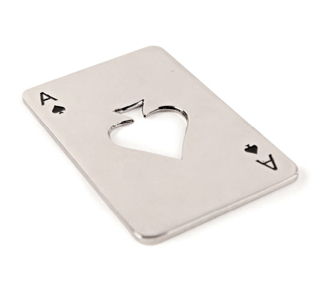 Ace Playing Card Steel Bottle Opener Chilled Magazine