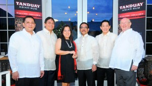 tanduay asian rum executives at kick-off event