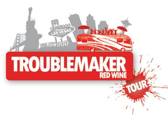 trouble maker wine logo featured image