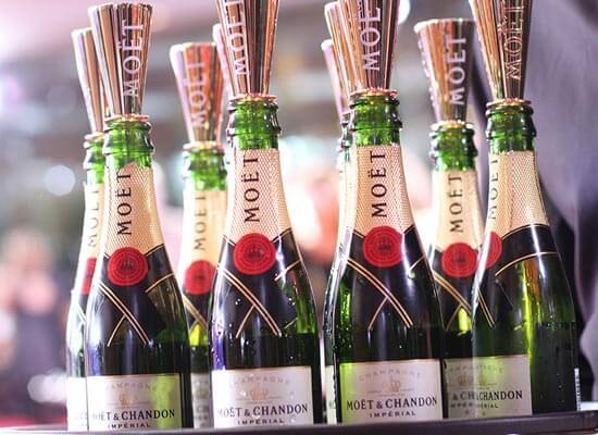 "Celebrities ""Toast for a Cause"" with Moët & Chandon Impérial Minis at the 71st Annual Golden Globe Awards"