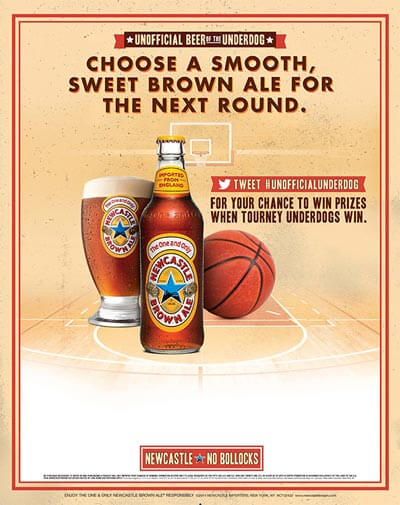nba march madness price card new castle beer