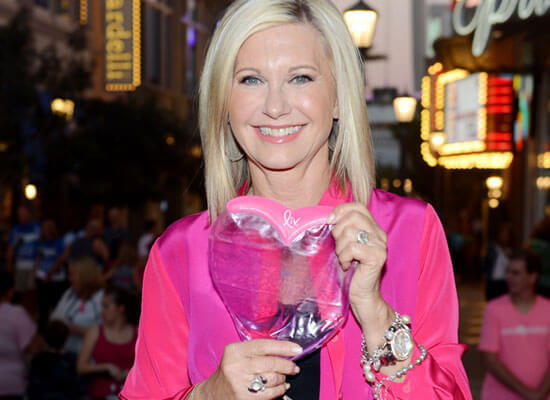 "Olivia Newton-John lights ""The High Roller"" for Pink for the Night"