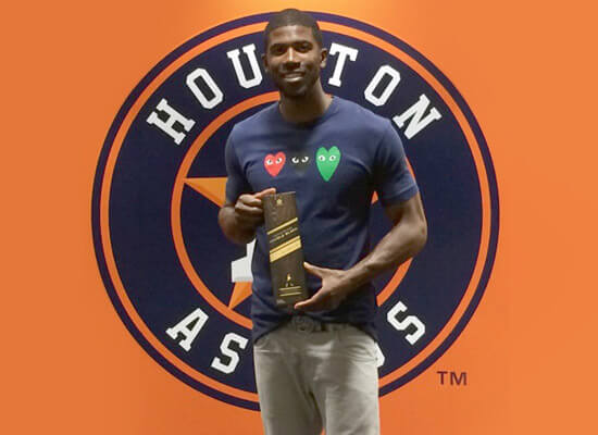 Houston Astros Dexter Fowler Toasts Opening Day with Johnnie Walker