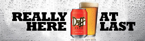 The Official Duff Beer is Set