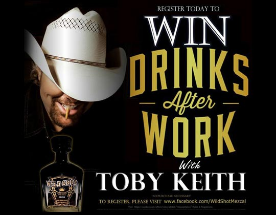 "Wild Shot Winners to Have ""Drinks"" with Toby Keith"