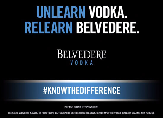 "Belvedere Vodka ""Know the Difference"" New Campaign Videos Launched"