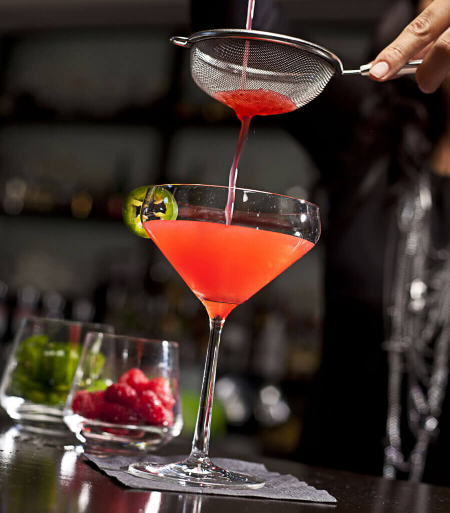 Some Like it Hot (raspberry, tequila, jalapeno)