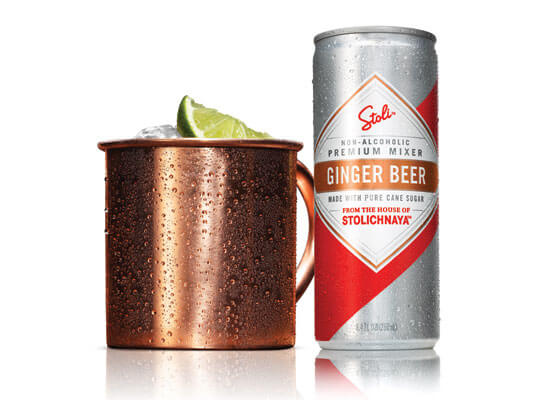 Moscow Mule Cocktails with Stoli Ginger Beer