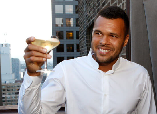 WestHouse Hotel New York Toast Honorary Guest, Jo-Wilfried Tsonga