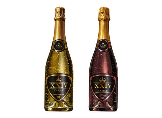 XXIV Karat Sparkling Wine Breaks into California