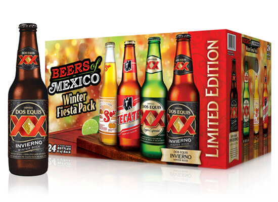 """Heineken USA Reintroduces """"Beers of Mexico"""" Winter Variety Pack Including Dos Equis Invierno"""