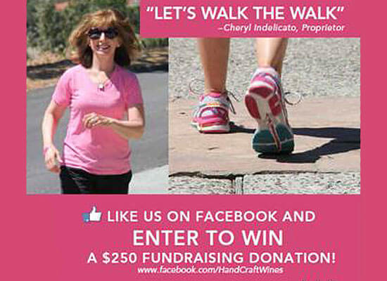 "Handcraft Wines Launches ""Walk the Walk"" Campaign in Support of Breast Cancer Awareness"
