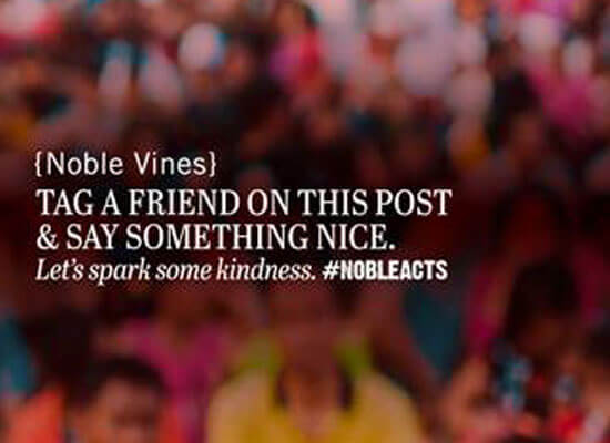 Noble Vines Partners with Random Acts and Sets Out to Inspire 20,000 Acts of Kindness