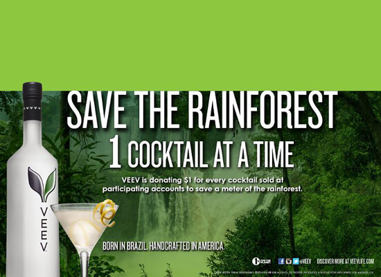 VEEV® Spirits Partners With Cuipo To Save The Rainforest One Cocktail At A Time