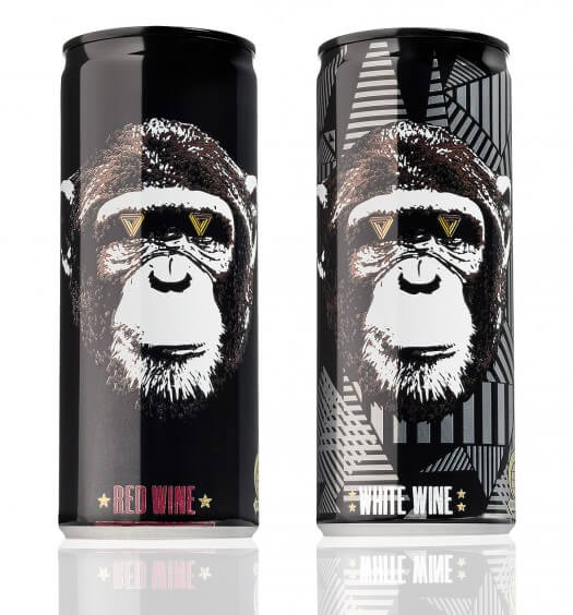 The Infinite Monkey Theorem - Red and White Wine in a Can