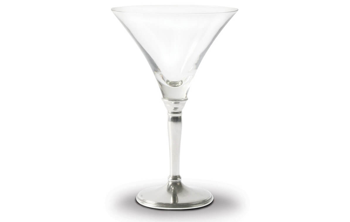 Classic Pewter Stem Martini Glass