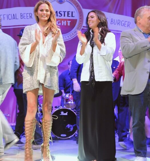 Chrissy Teigen Presents Amstel Light Burger Bash at SOBEWFF