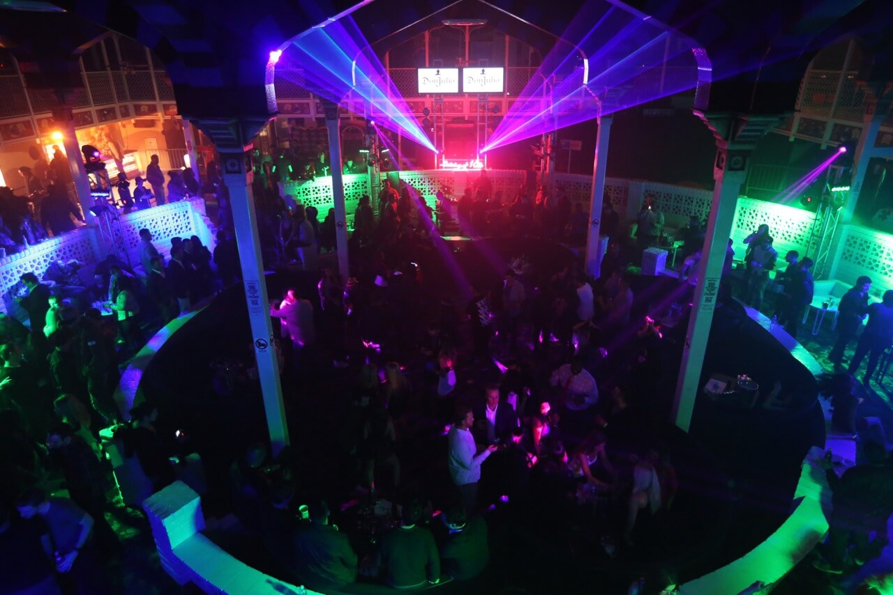 Guests celebrate the Big Game weekend with Tequila Don Julio and 1OAK Present Neon Carnival