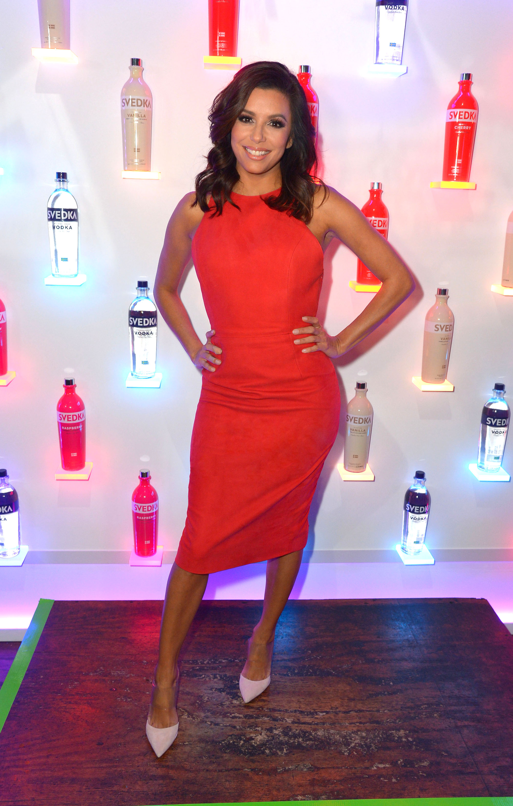 Eva Longoria Attends SVEDKA Vodka's Stupid Cupid Valentine's Day Bash