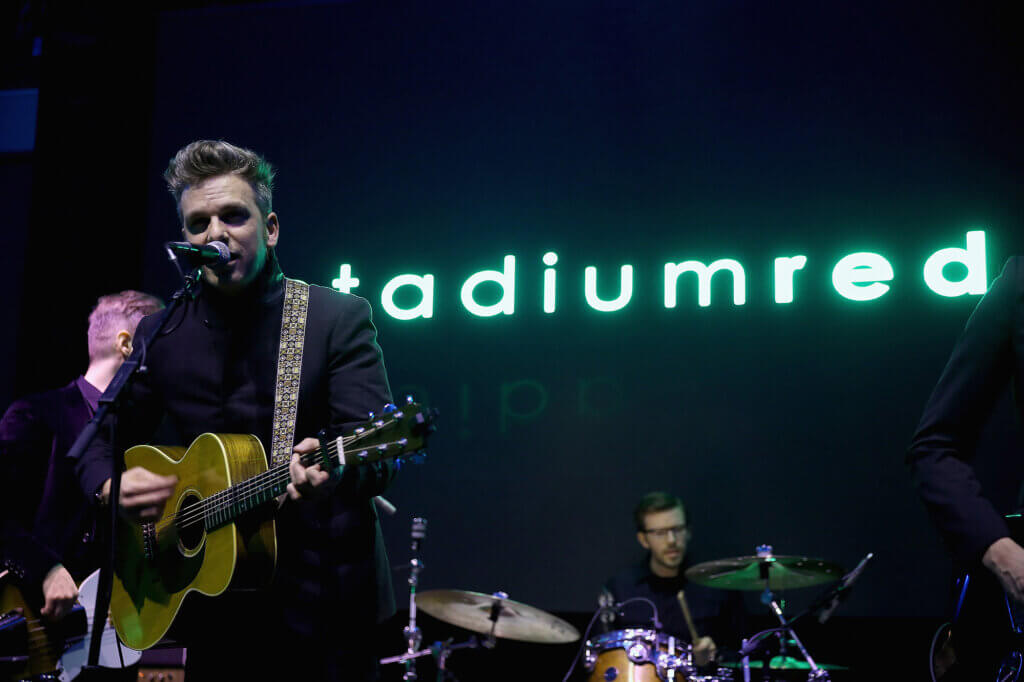 Greg Holden performs on stage at the GREY GOOSE and Stadiumred New York VIP Grammy Awards Party on February 8, 2015 in New York City