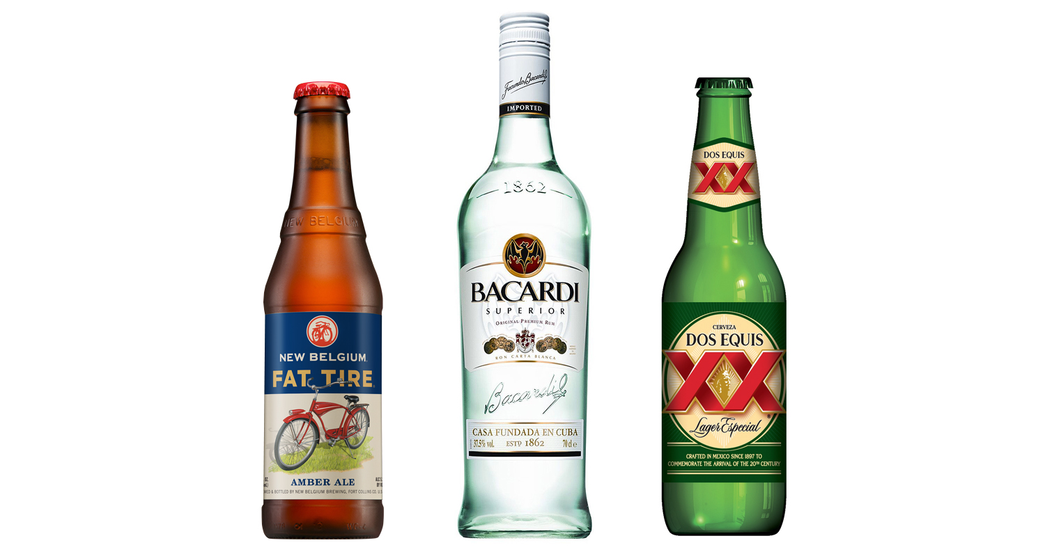 FatTire, Bacardi Superior and DosEquis