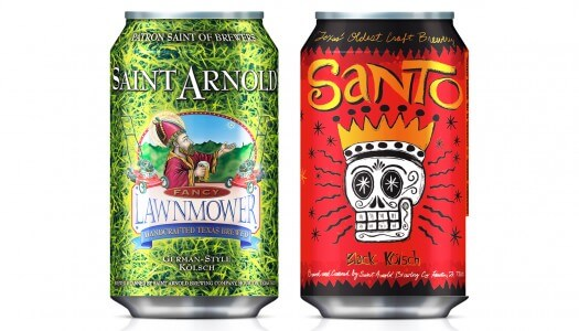 Saint Arnold Brewing Releases Canned Lawnmower and Santo Beer