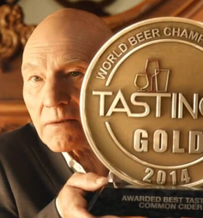 Legendary Actor Sir Patrick Stewart Teams Up with Strongbow Cider
