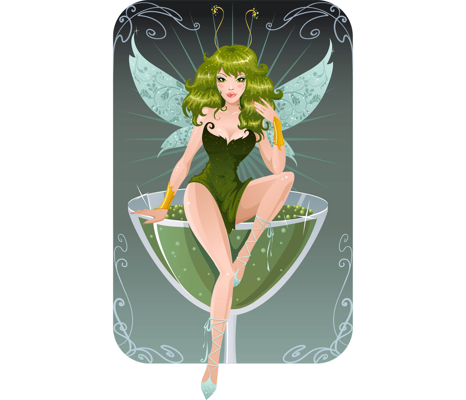 """The Green Fairy"" Image Associated with Absinthe"