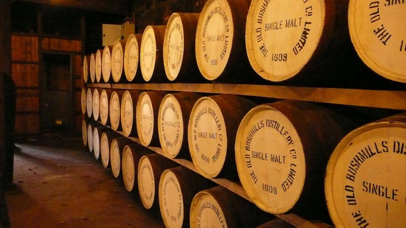 Barrels at Bushmills Warehouse