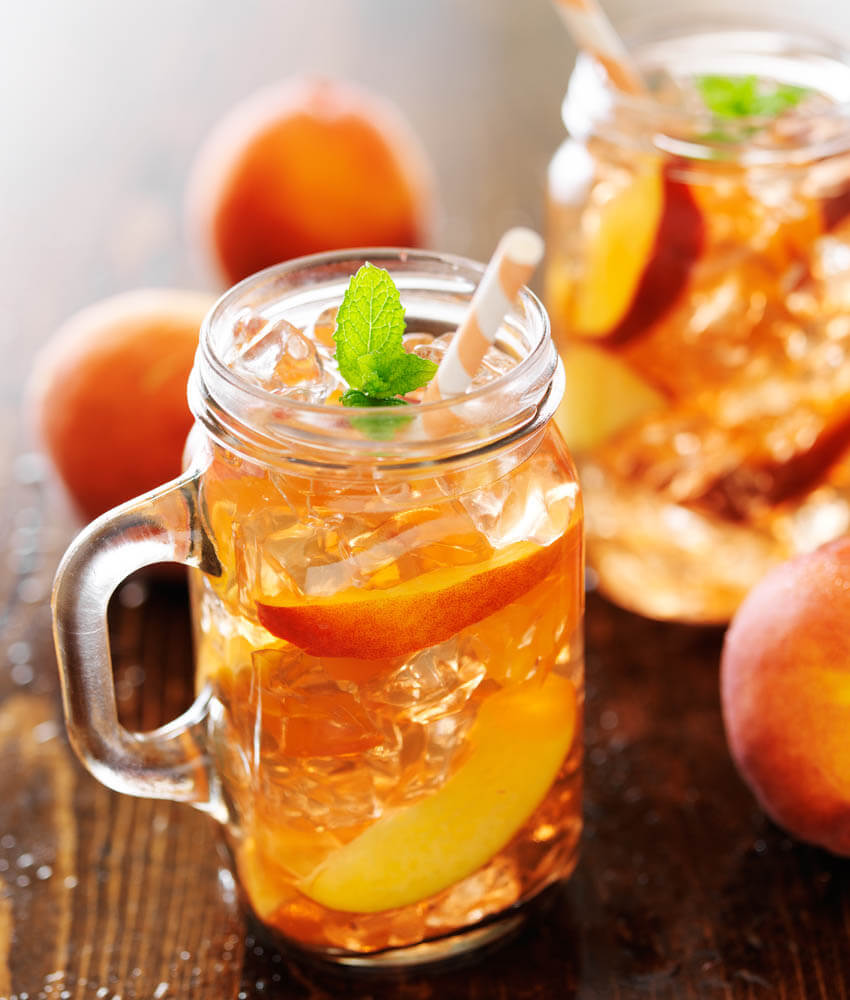 Peach-Infused Gin & Tonic