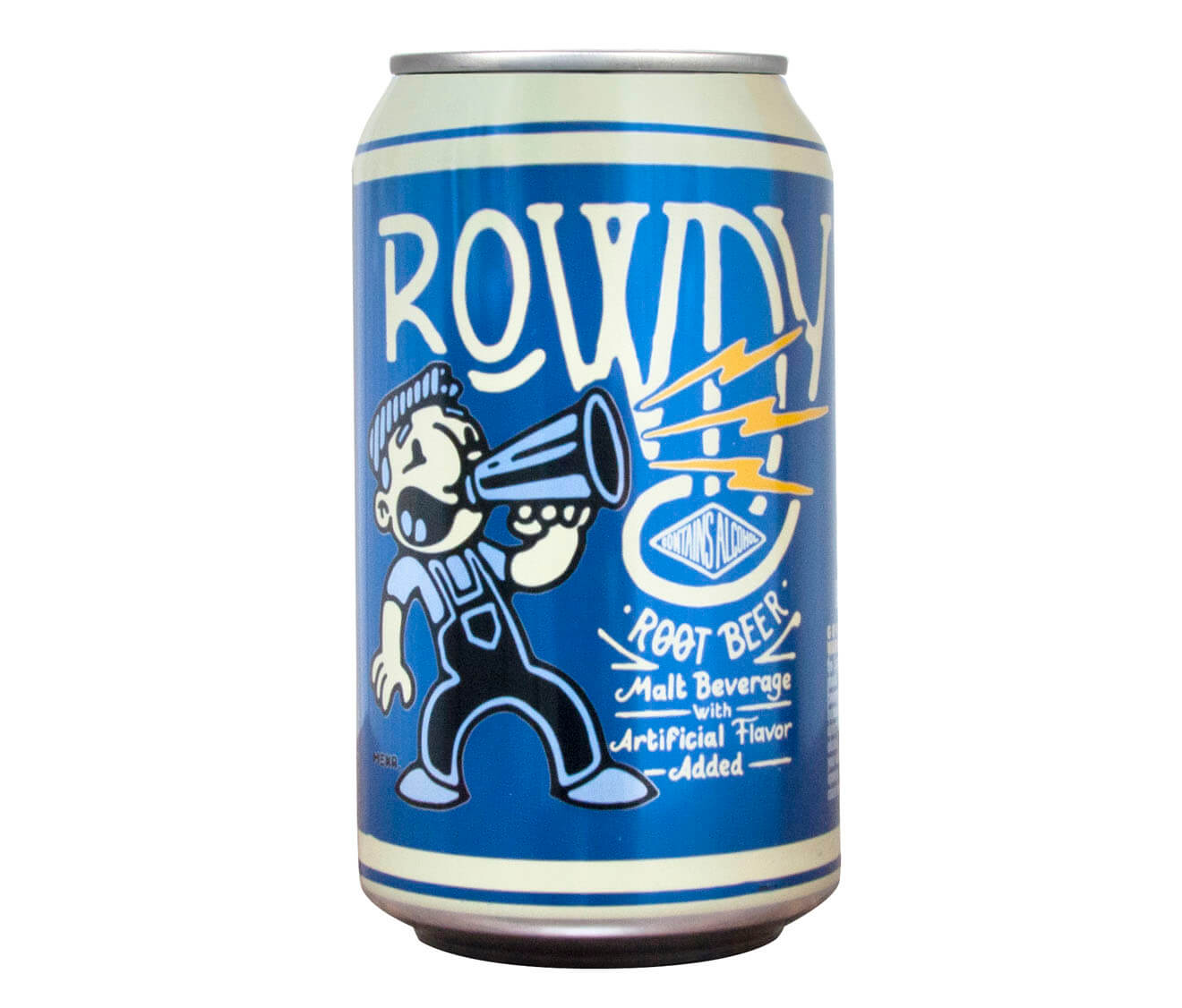 Rowdy Root Beer in a Can