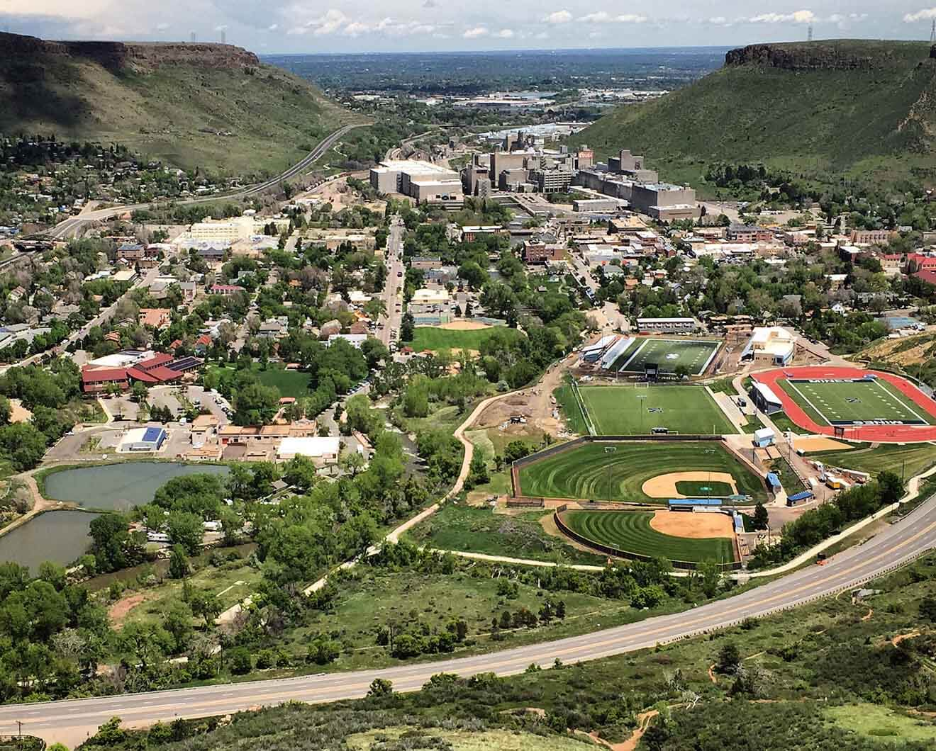 Coors Brewery Dominates Golden Colorado