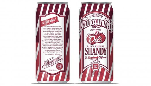 Narragansett Beer Releases Del's Black Cherry Shandy