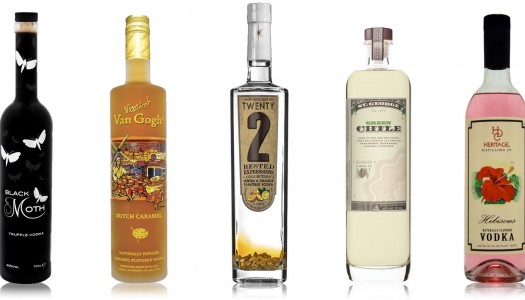 5 Vibrantly Flavored Vodkas