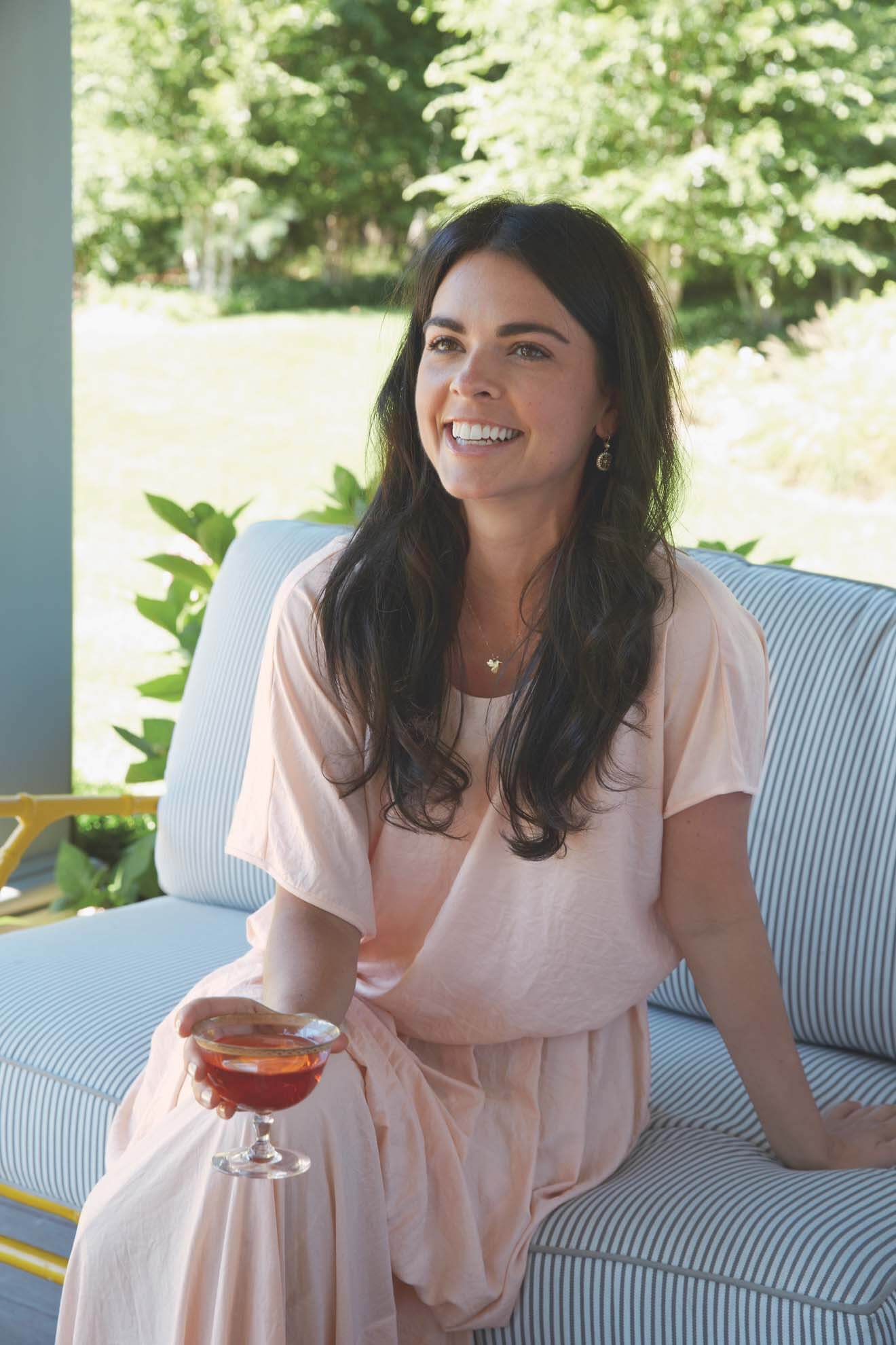 Katie Lee with Cocktail