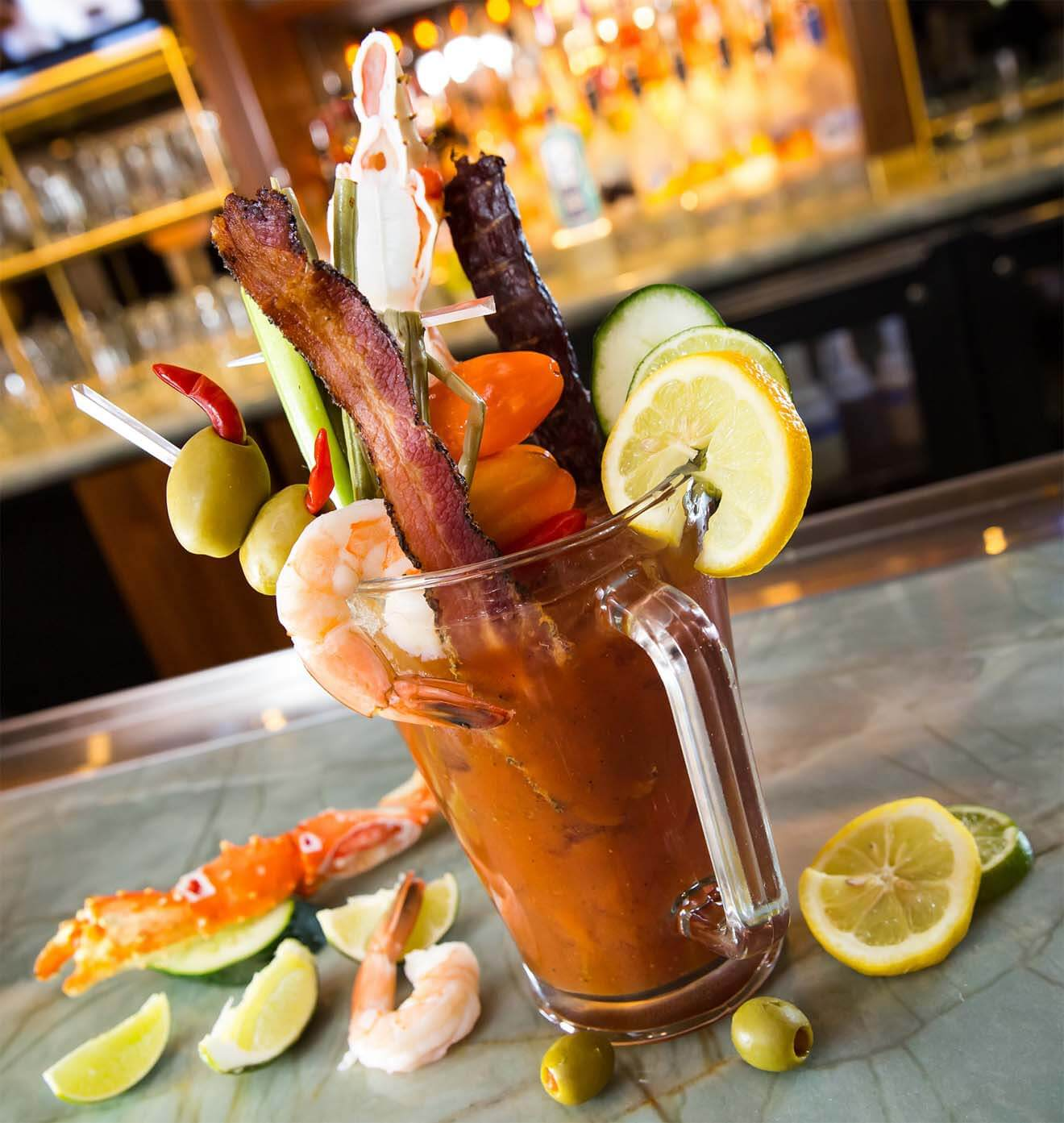 Hexx Kitchen Bar Las Vegas Colossal Bloody Mary