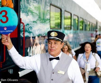 Tequila Express Guests Boarding the Train