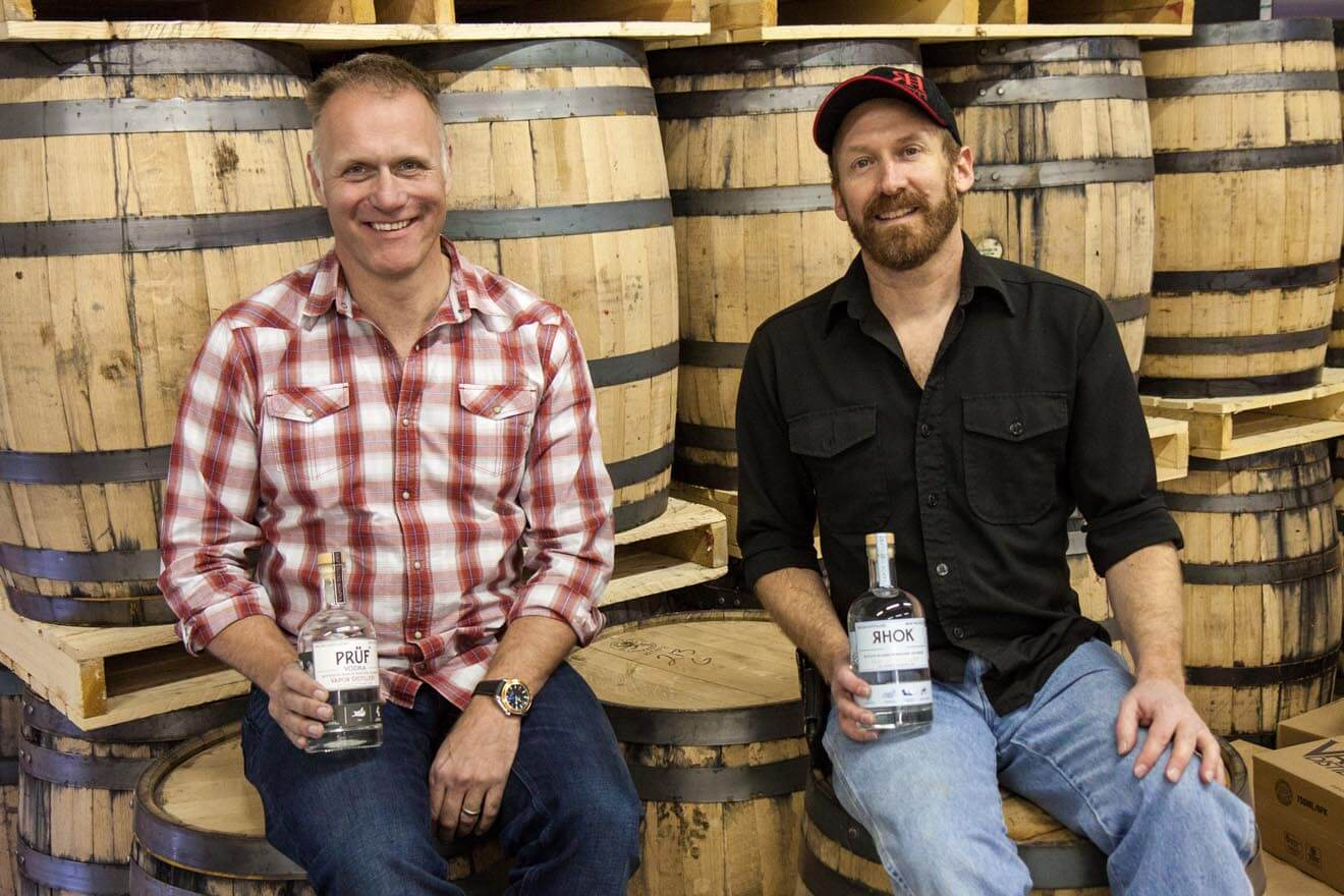 Ted Palmer and Alastair Brogan of Vapor Distillery in Boulder, Colorado