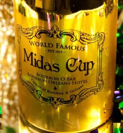 midas cup champagne bottle