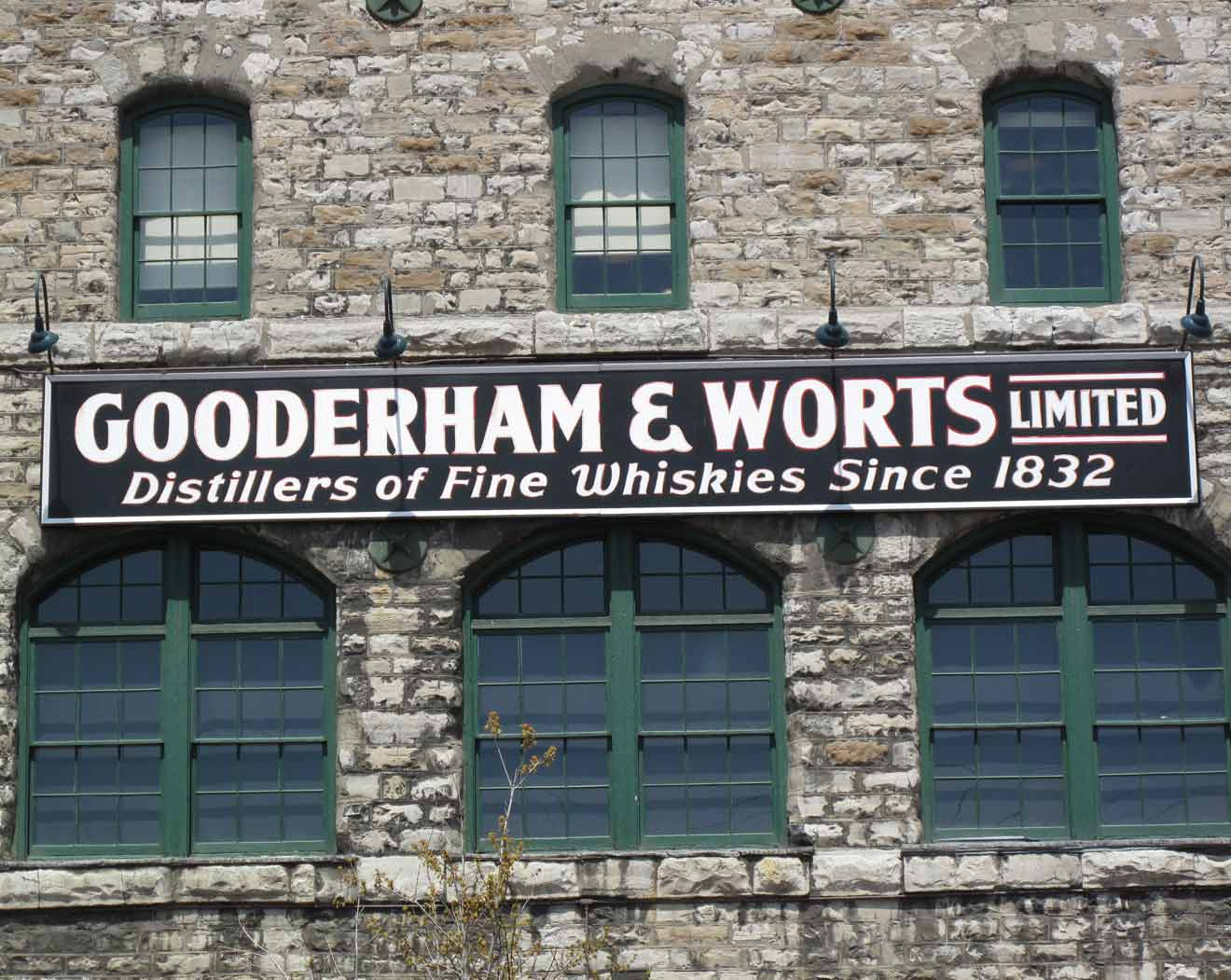 Historic Gooderham & Worts Distillery est. 1831