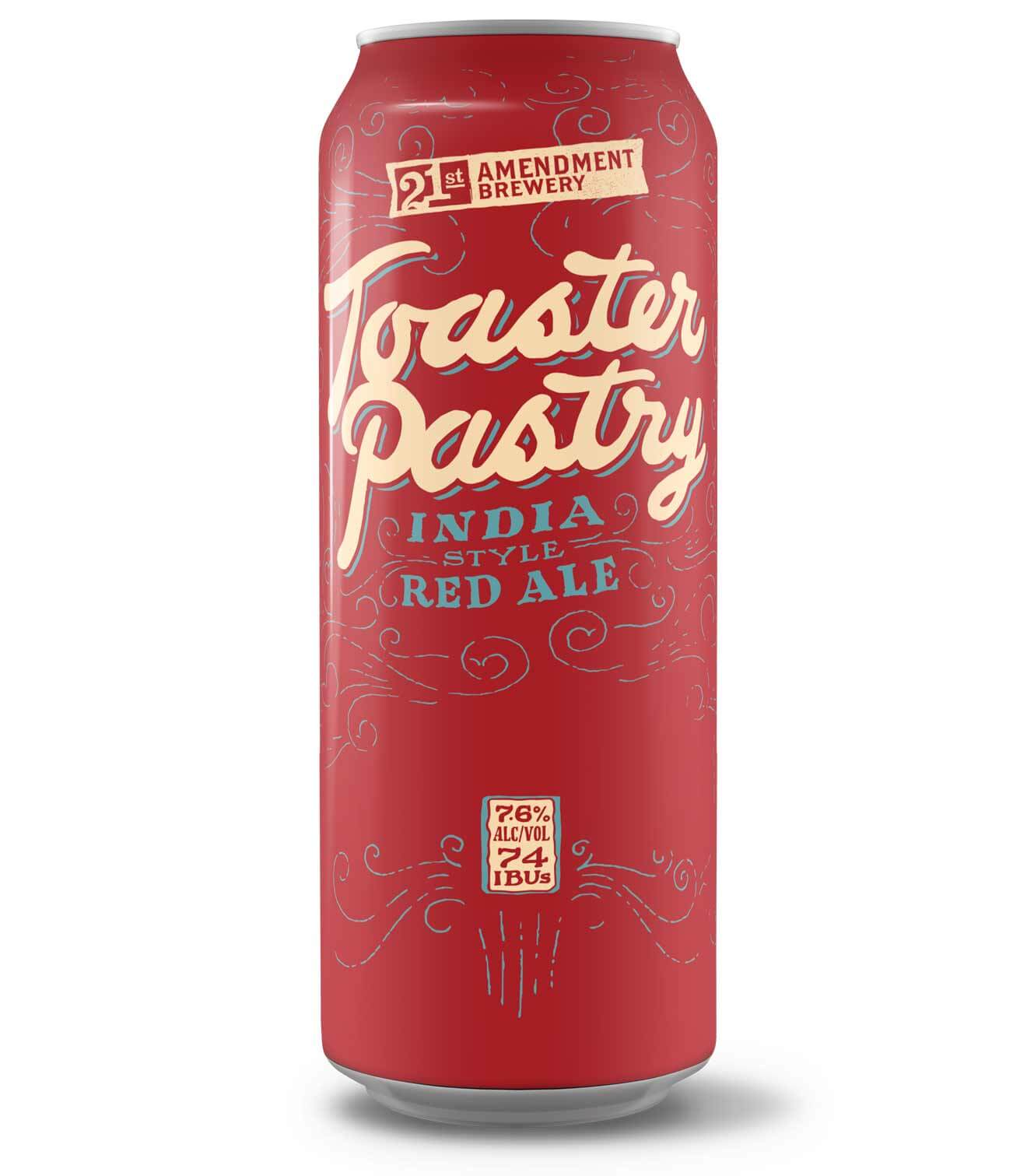 """""""Toaster Pastry"""" Indian Red Ale from 21st Amendment Brewery Unwraps"""