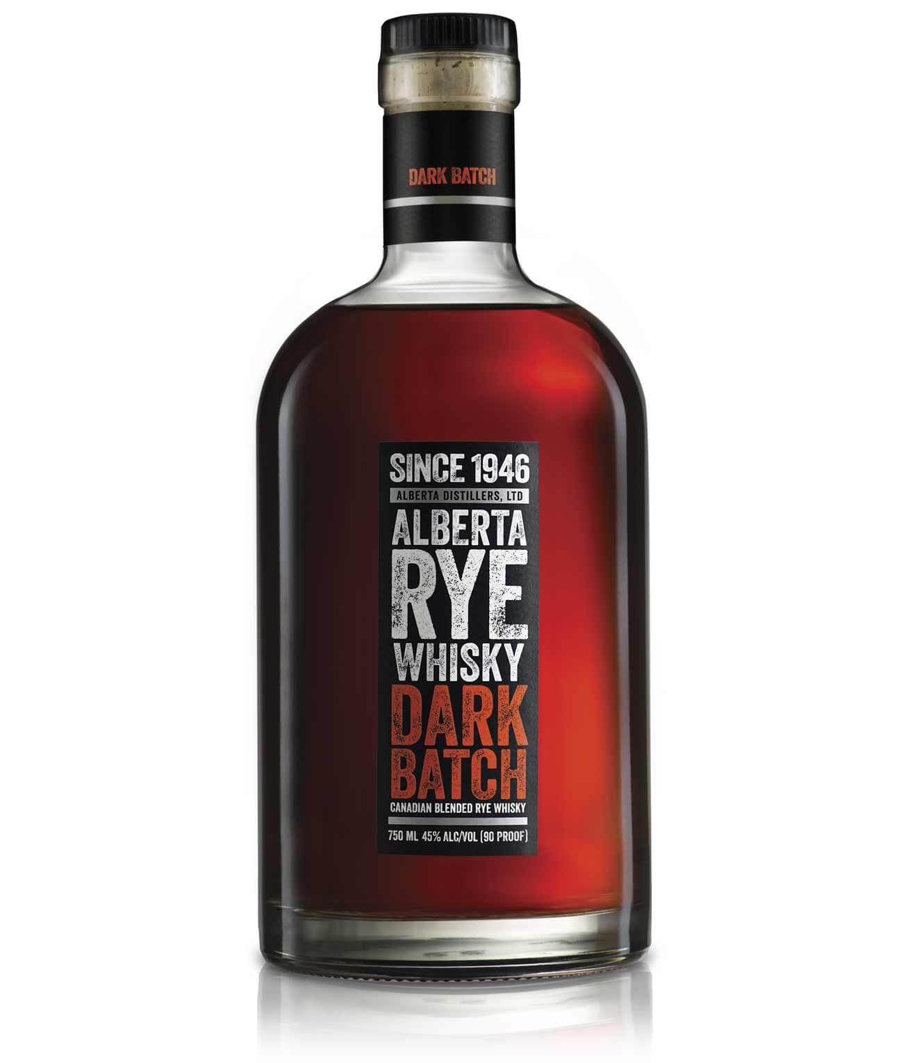 Alberta Rye Dark Batch is a rare high-end Canadian whisky that includes some American spirit