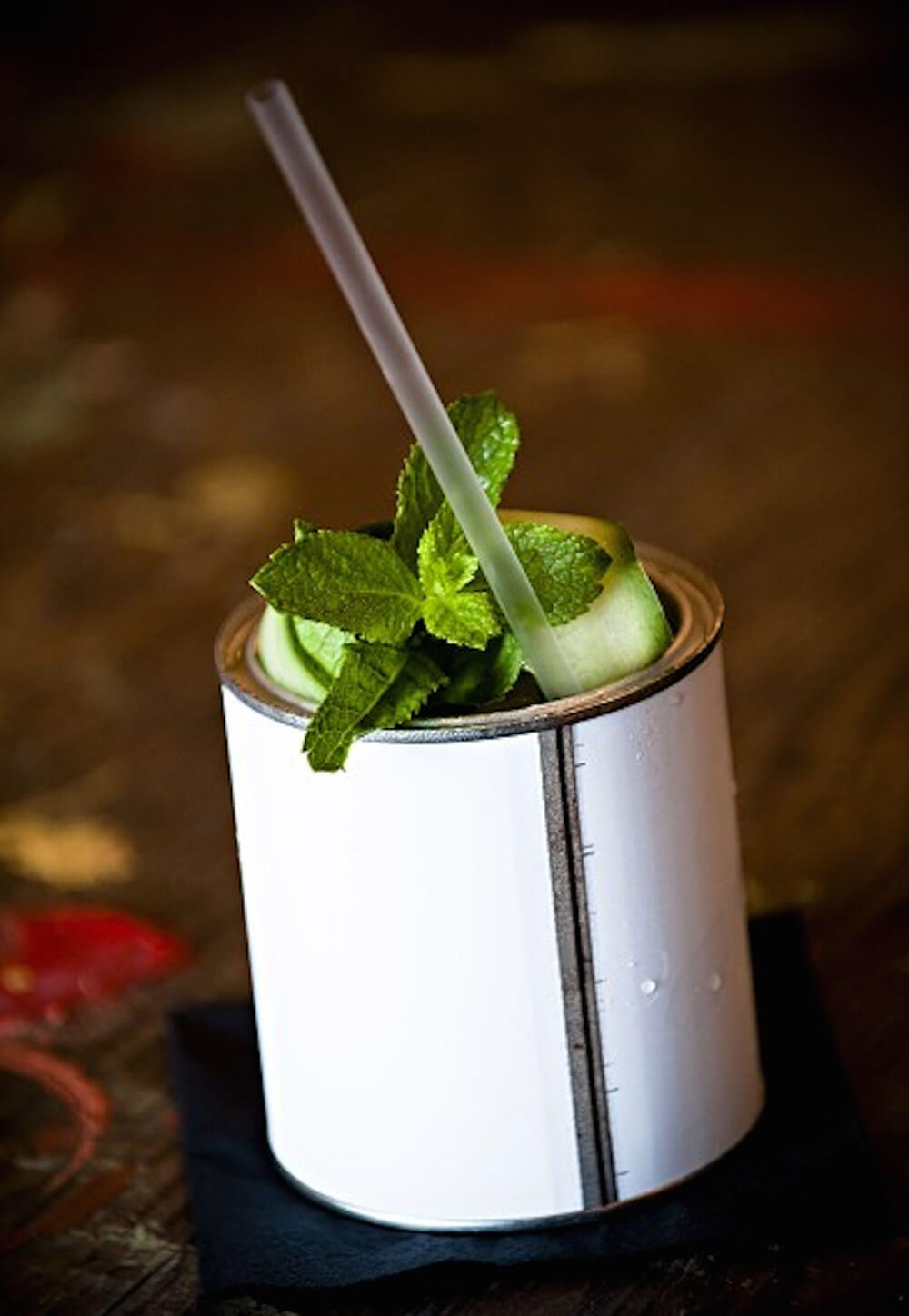Gin in a Paint Tin at Graphic Bar