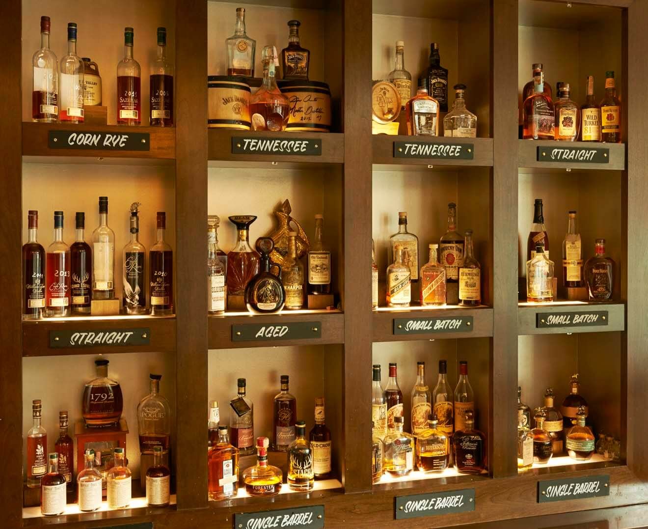 Bourbon Back Bar at JW Steakhouse