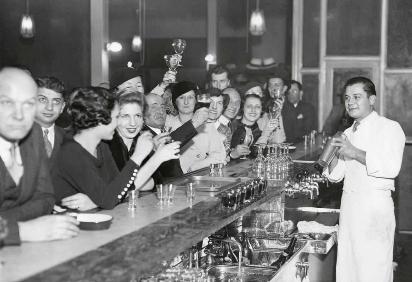 December 1933 at a Philadelphia Bar When Prohibition Was Repealed